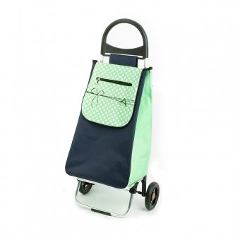 Wózek na zakupy torba na kółkach lekki, składany Aurora 125 zielony