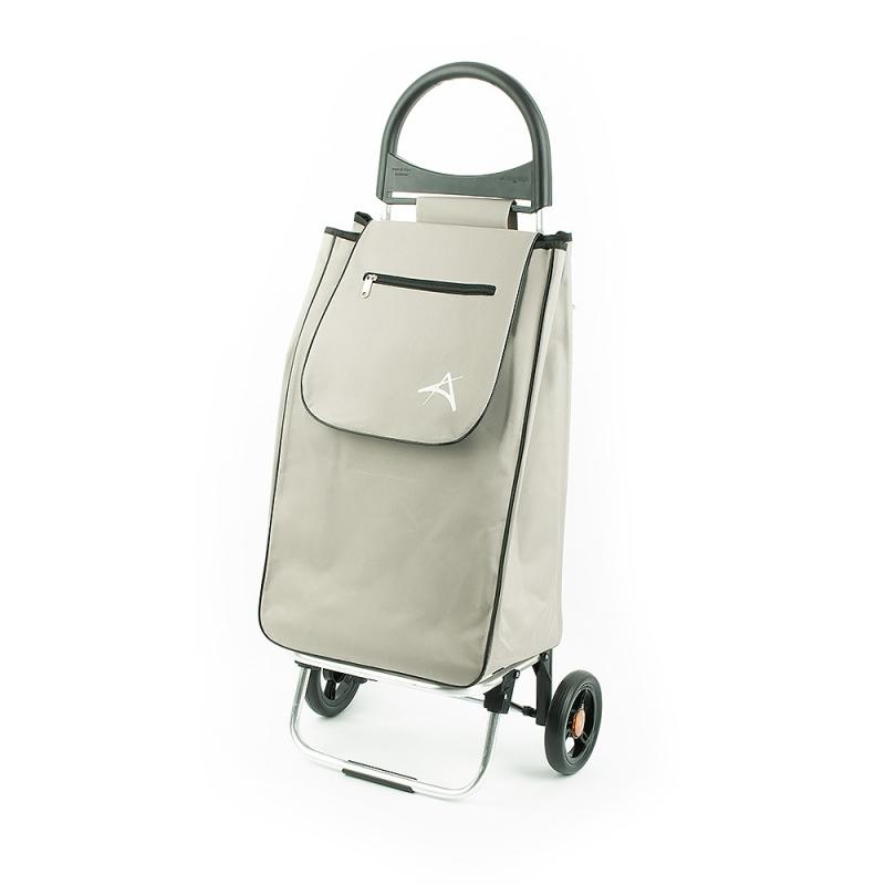 Wózek na zakupy torba na kółkach lekki, składany Aurora 125 szary
