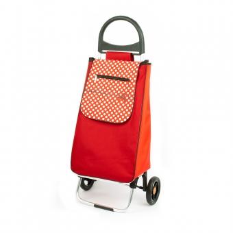 Wózek na zakupy torba na kółkach lekki, składany Aurora 125 czerwony
