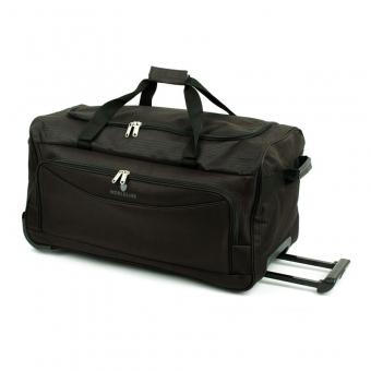 Mała torba podróżna na kółkach z materiału tania 45l - Airtex 898/55 czarna