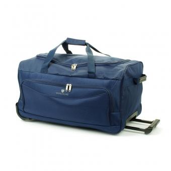 Mała torba podróżna na kółkach z materiału tania 45l - Airtex 898/55 granatowa