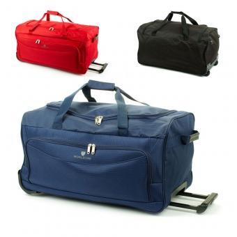 Mała torba podróżna na kółkach z materiału tania 45l - Airtex 898/55
