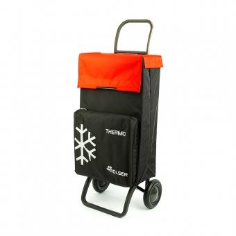 Wózek torba na zakupy na kółkach z kieszenią termiczną Rolser TER037 czarny