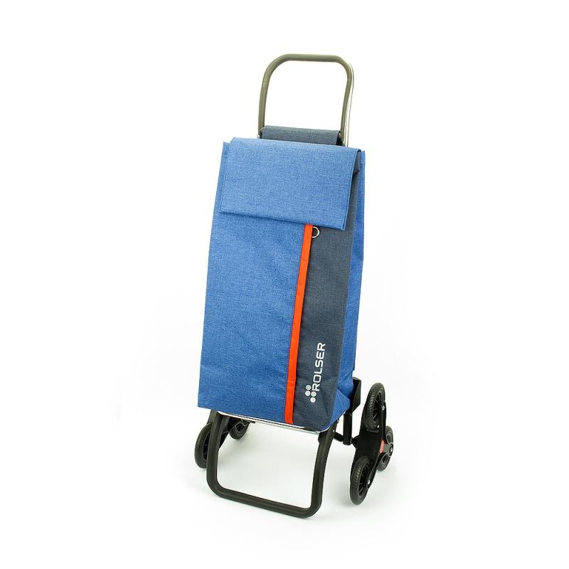 Wózek torba na zakupy na kółkach sześciokołowy Rolser Kangaroo KAN003 niebieski